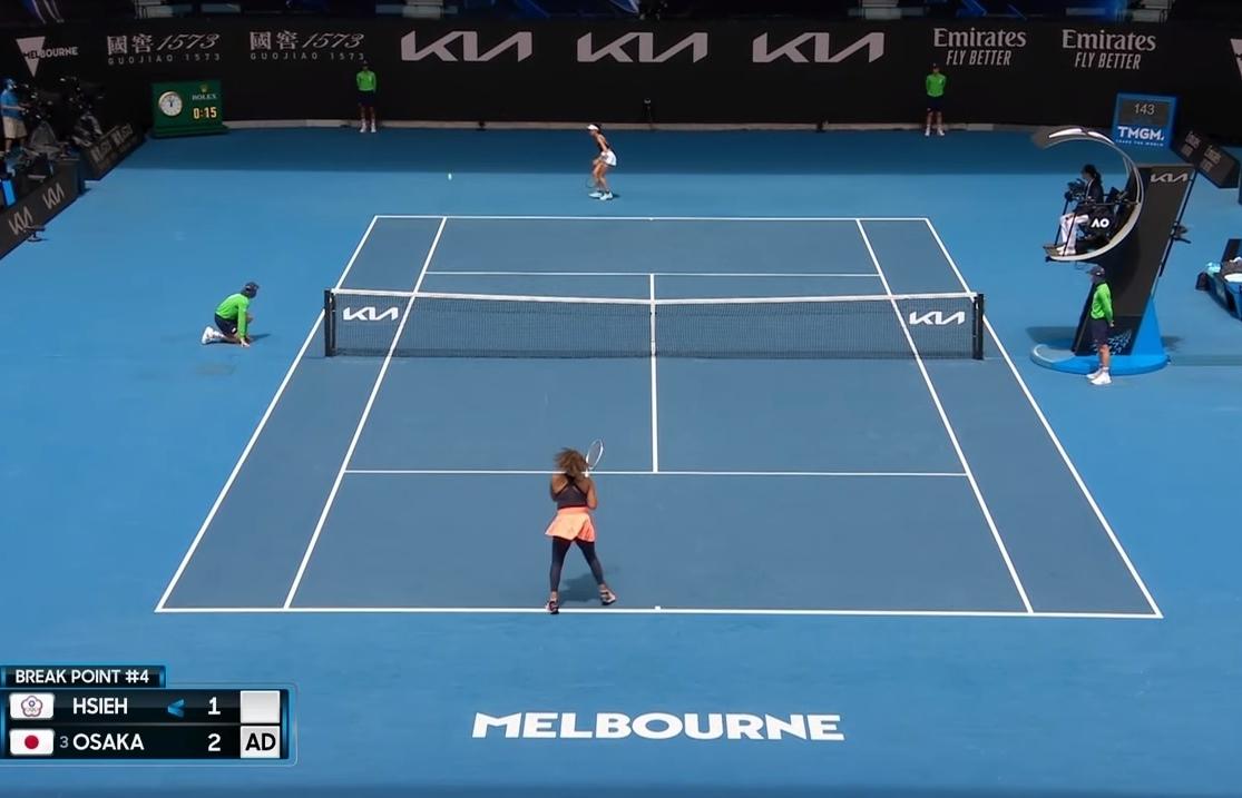 Osaka powers past veteran Hsieh into Australian Open semis
