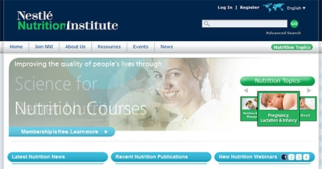 Nestle's online medical and nutrition library launched
