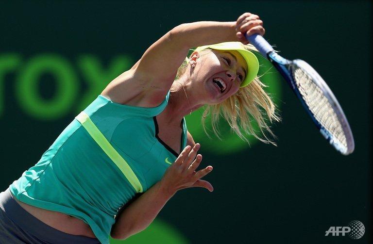 Sharapova advances to fifth Miami final