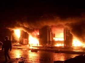 pho hien market destroyed by fire