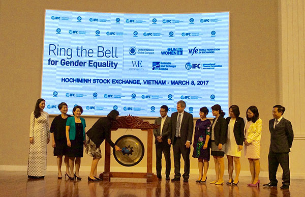 IFC: HoSE joins 42 stock exchanges worldwide to Ring the Bell for gender equality