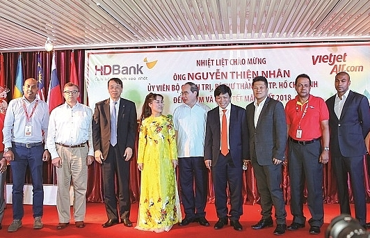 Vietjet and HDBank lauded for contributions to Ho Chi Minh City