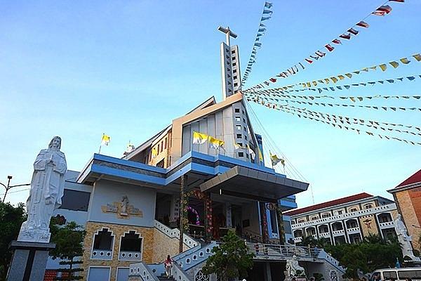 visiting mekong deltas century old church