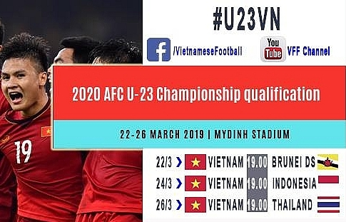 AFC U23 Championship's Group K matches broadcast in Vietnam