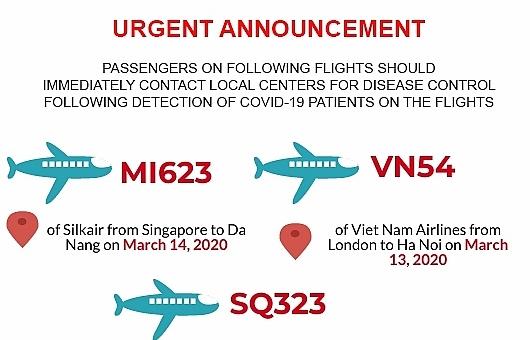 Urgent announcement for passengers on 3 more int'l flights