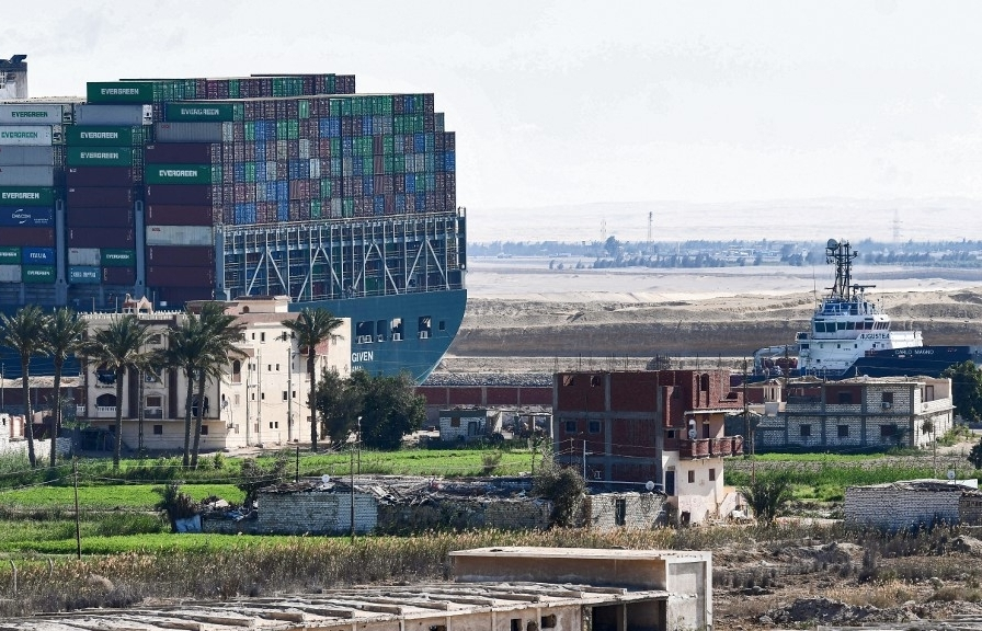 Ever Given ship in Suez Canal moved '80%' in right direction