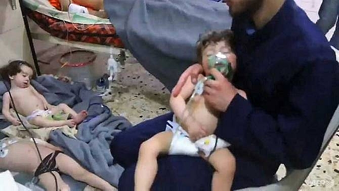 trump warns of big price after suspected syria gas attack