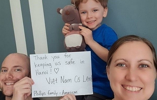 Thank-you messages from foreign nationals