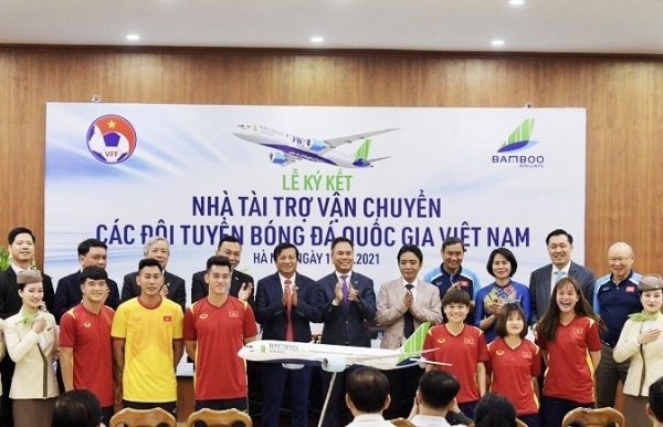 bamboo airways becomes transportation sponsor for national football teams