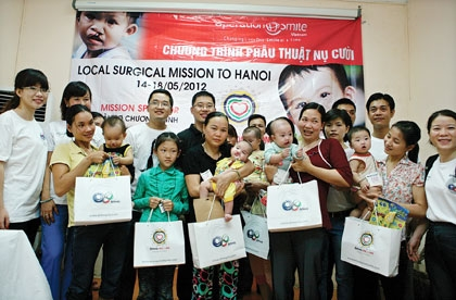 Amway Vietnam continues support to free cleft lip surgeries