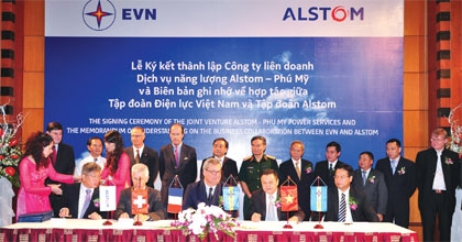 Alstom powers turbine plant