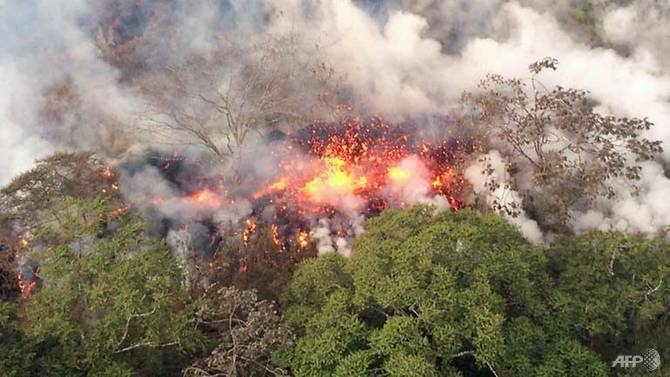 hawaii volcano summit erupts residents urged to take shelter