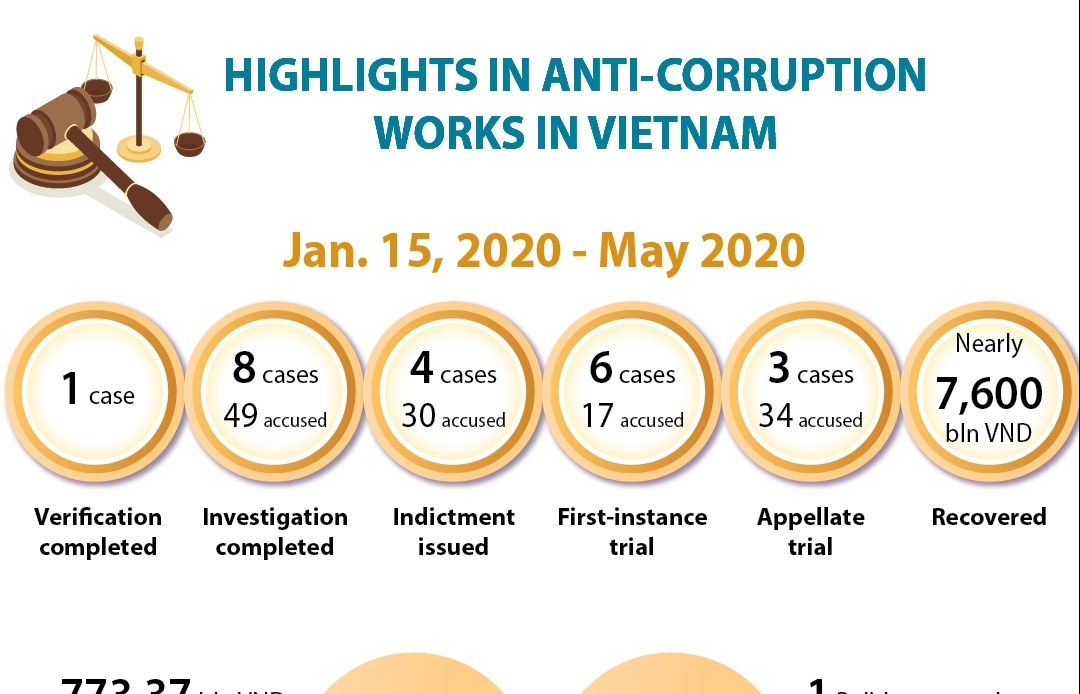 highlights in anti corruption works in vietnam infographics