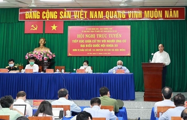 State President meets voters in HCM City's Cu Chi and Hoc Mon districts