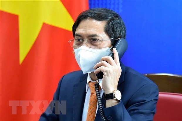 vietnamese german foreign ministers hold phone talks