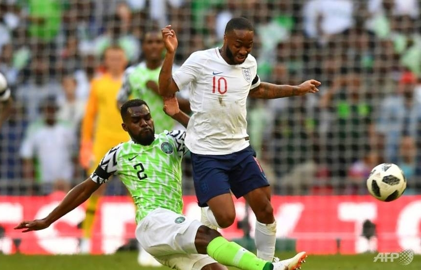 Troubled Sterling booked for diving as England down Nigeria