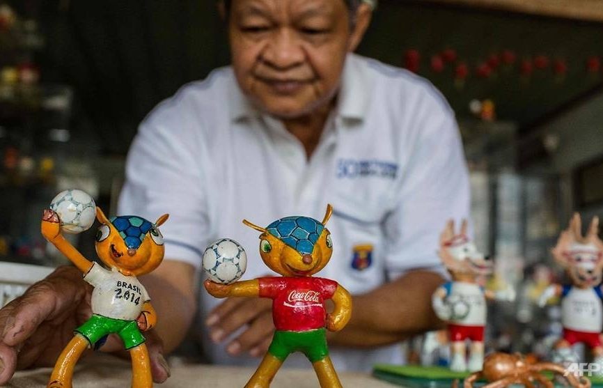 cracking art the vietnam craftsman making world cup mascots from eggshells