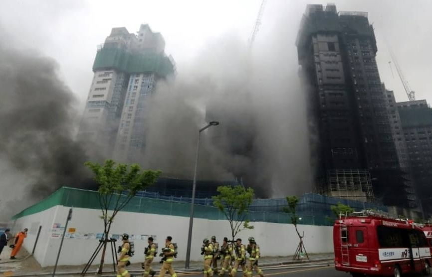 Two killed in construction site fire in South Korea