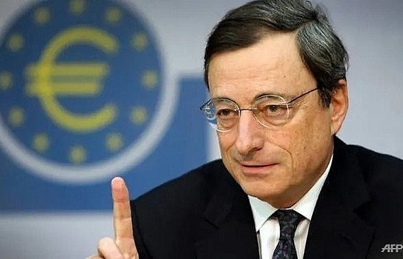 ecbs draghi vows support for eurozone in world far from normal