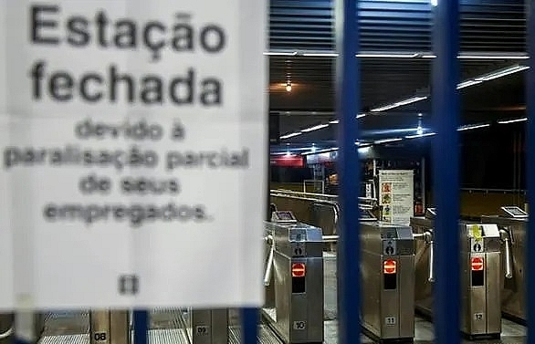 brazil strike disrupts transport ahead of copa america