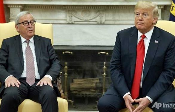 Trump, EU's Juncker agree to ease trade tensions
