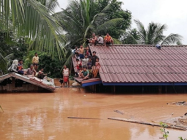 laos warns against fake news photos of dam collapse