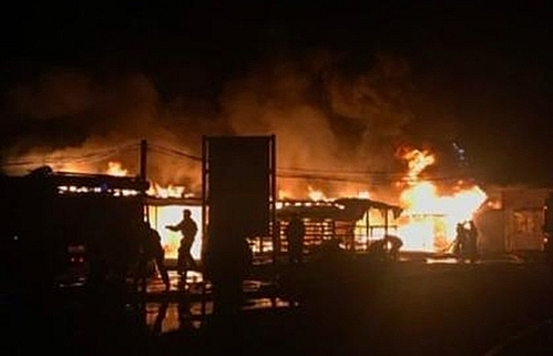 Vietnamese market in Russian city catches fire, no casualty