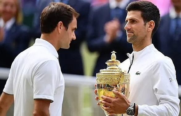 djokovic beats federer to win fifth wimbledon title in record breaking final