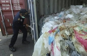 Indonesia returns containers of waste to France, Hong Kong