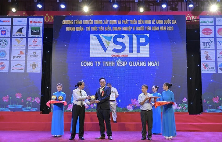 VSIP Quang Ngai receives coveted award for Green Industrial Park 2020