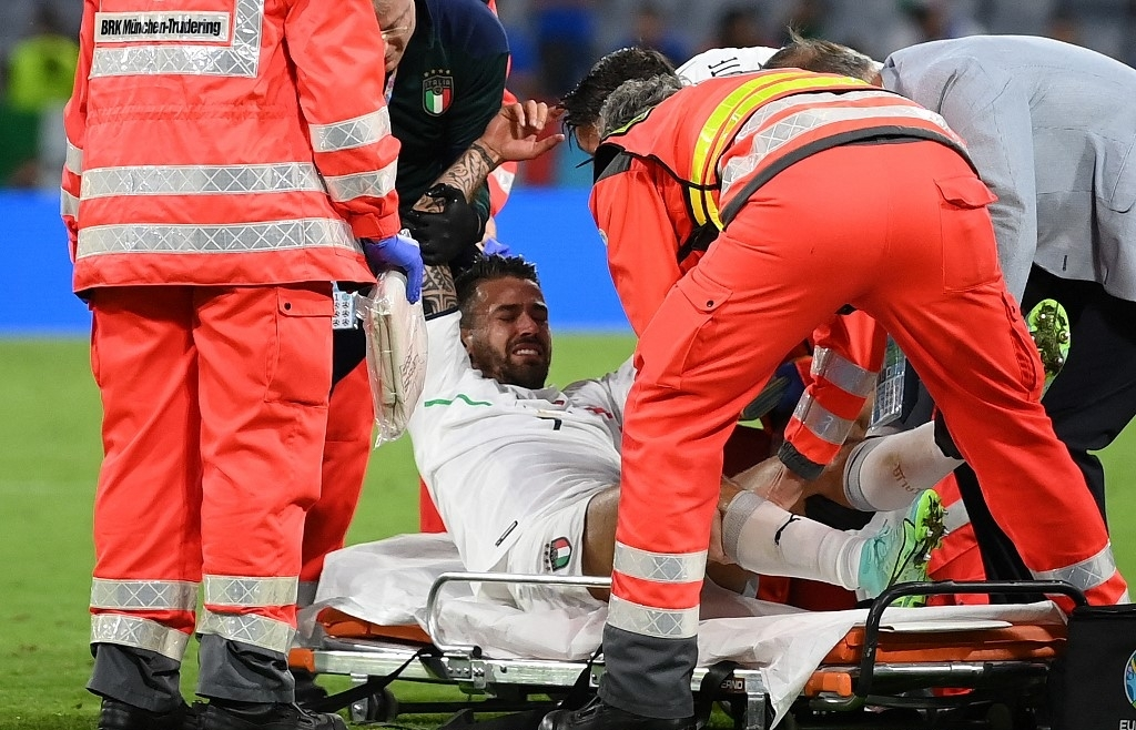 Italy's Spinazzola suffers Achilles injury