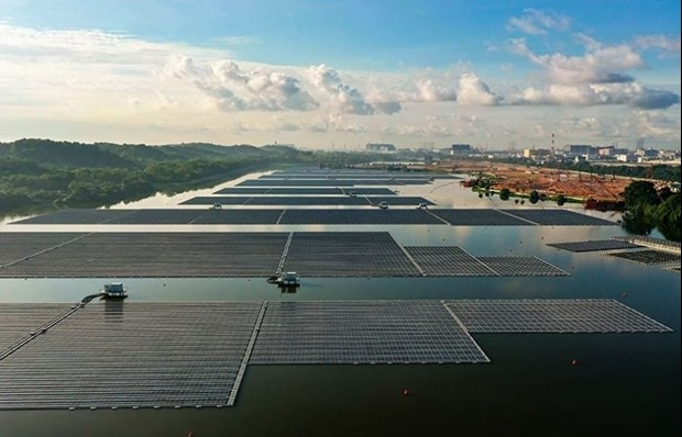 Singapore opens one of world's largest floating solar power farms