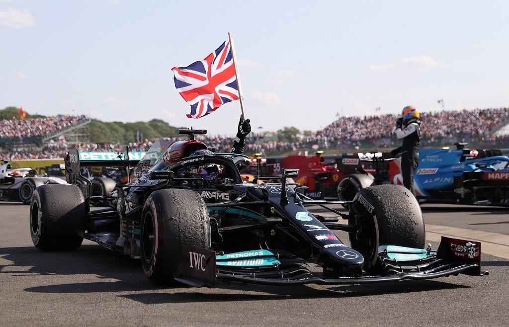 Hamilton racially abused on social media over British GP win