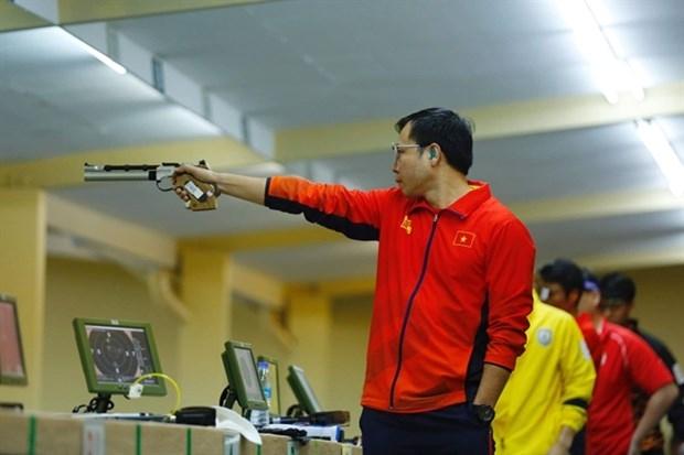 Marksman Hoang Xuan Vinh (Photo: VNA)