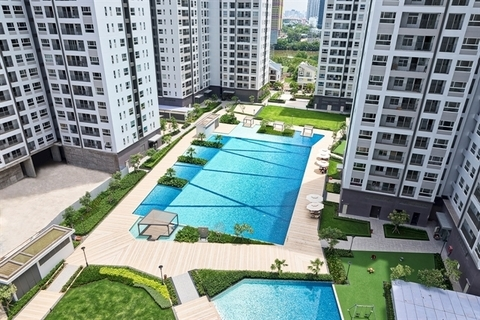 Novaland's Sunrise Riverside apartment project in HCM City's District 7. Novaland (NVL) rose 4.1 per cent on Monday. – Photo novaland.com.vn