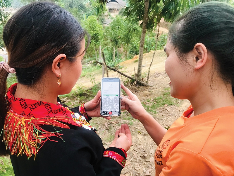 Ethnic communities in rural areas are provided with useful apps to manage their crops and produce