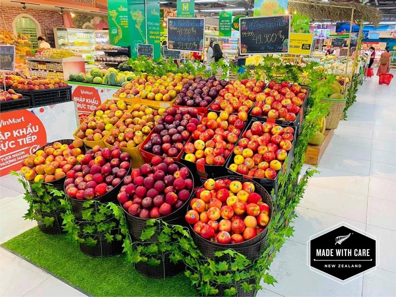 New Zealand Fruit Week launches at Vinmart retail chain with quality fruits