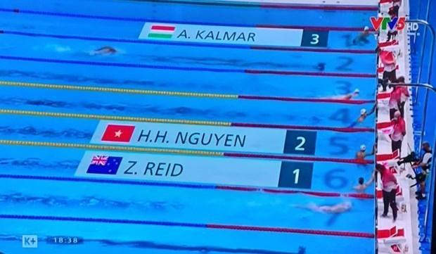In 800m freestyle swimming contest (Photo: VNA)