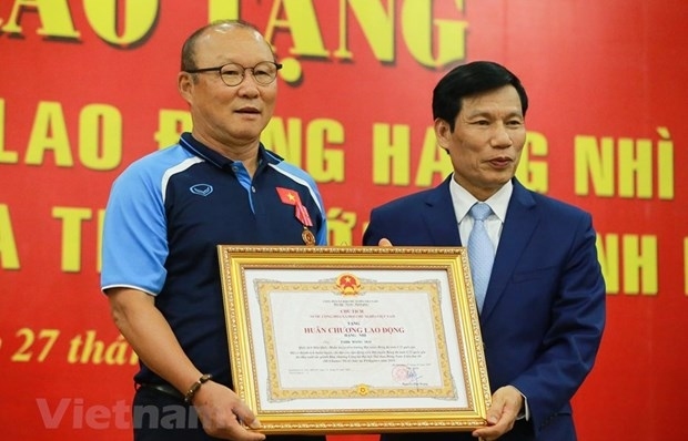 Football coach Park Hang-seo honoured with Second-Class Labour Order