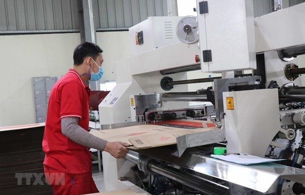 A worker in a factory in the northern province of Bac Ninh. (Photo: VNA)