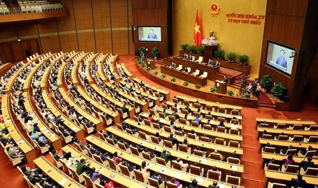 At a session of the 15th National Assembly (Photo: VNA)