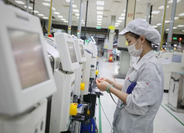 Production at Fuhong Precision Component in Dinh Tram Industrial Zone, Bac Giang province (Photo: VNA)