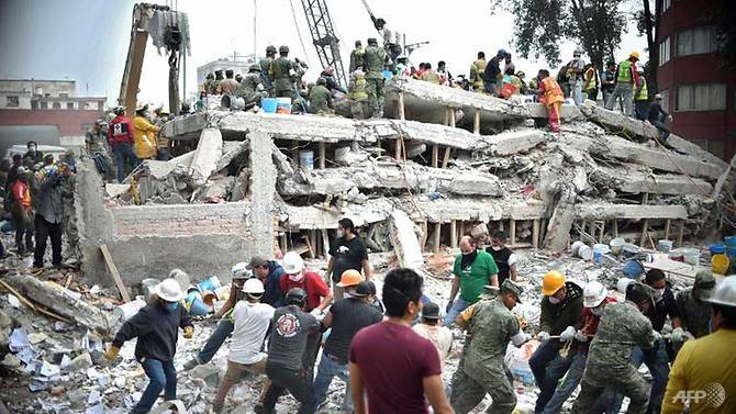 Hope fades as Mexico's search for quake survivors enters third day