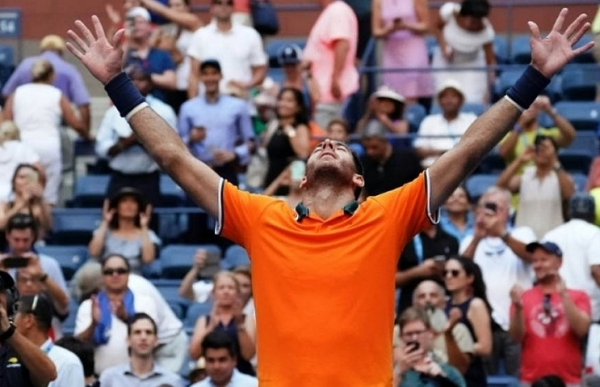 del potro beats isner ends american hopes to reach third us open semi final