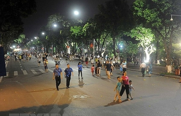 hoan kiem pedestrian zone an attraction of hanoi