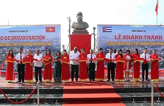 Fidel Park inaugurated in central Quang Tri Province
