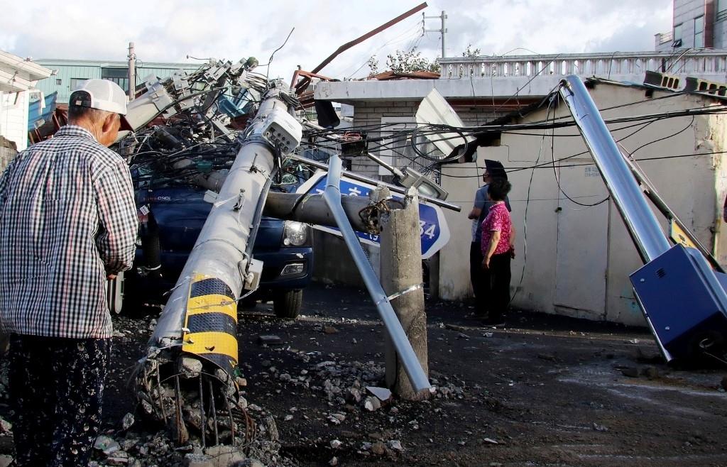 Typhoon Maysak lashes South Korea