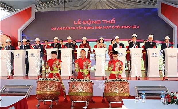 hyundai thanh cong 2 automobile plant breaks ground in ninh binh