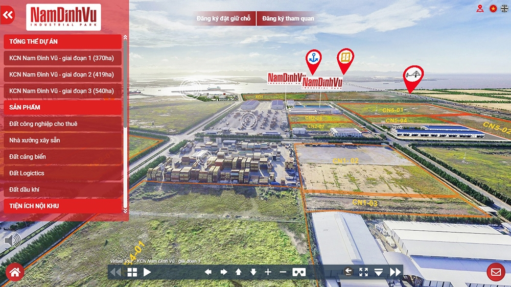 investor will be able to visit nam dinh vu ip by virtual reality technology
