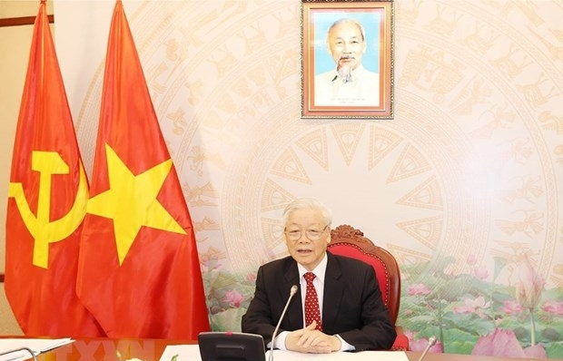 Top leaders of Vietnam, China agree to step up result-oriented cooperation